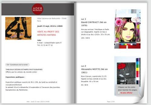 Catalogue des ventes Haïti Action Artistes